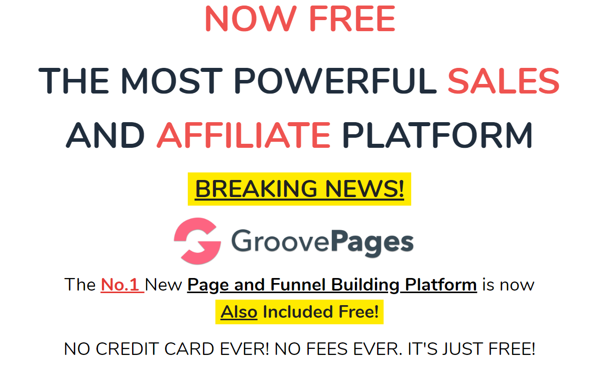GrooveFunnels Free